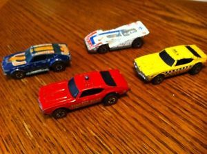 Lot of 4 Redline Red Line Lines Hot Wheels RARE Cars Car Old