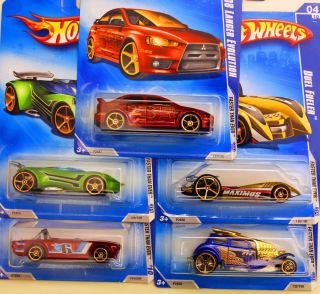Hot Wheels Lot of 5 FTE Faster Than Ever Mitsubishi Lancer EVO Triumph Lotus