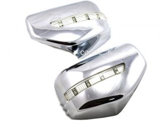 LED L E D Chrome Mirror Cover Trim Mitsubishi L200 Triton Pickup 2006 2012