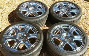 18 Chrome Rims 4 Wheels and Bridgestone S04 Mitsubishi VR4 3000gt Potenza Tires