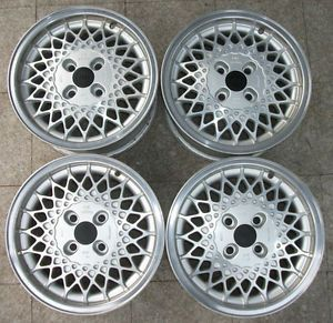 RARE Arc Rial Cross Spoke Alloy Wheels 4x108 7x15 Audi 80 90 100 Typ 81 85 44