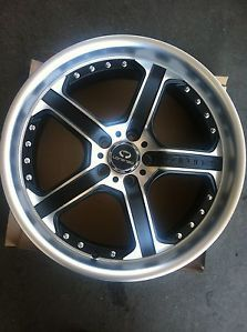 "20"" Silver Polish Rims Tires 5x112 Audi Jetta Some Mercedes Lorenzo WL21"