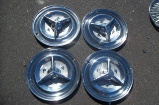 "1956 Oldsmobile Fiesta Spinner Hubcaps Wheel Covers 15"" Rat Rod OE56SWC"
