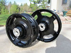 Harley Davidson Street Glide Road Glide Ultra and Road King Black Powder Wheels
