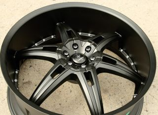 "Verde Allusion 24"" Semi Black Rims Wheels Dodge Magnum RT Base 24 x 9 5 5H 18"
