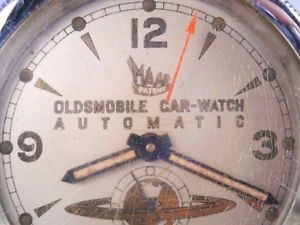 "Oldsmobile Car Watch Steering Wheel Clock ""Maar"" Switzerland"