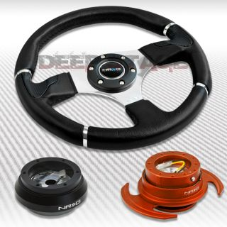 NRG Black Steering Wheel Hub Orange Gen 3 0 Quick Release Kit MR2 Supra Scion TC