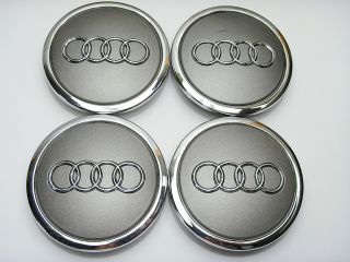 4pcs 68mm Alloy Wheel Center Caps Hub for Audi A3 A4 A6 A8 S6 RS4 RS6 TT s Line