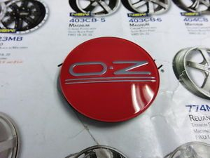 Oz Racing Wheel Red with Chrome Logo Center Cap M582