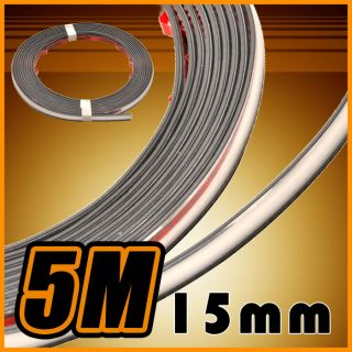 5M 15mm Interior Exterior Chrome Trim Strip Window Bumper Fog Lights Headlights