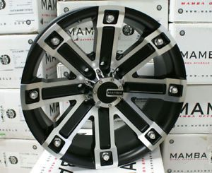 "Dodge Chevy Ford F250 H2 Wheels Rims 20"" x 10"" Mamba M1"