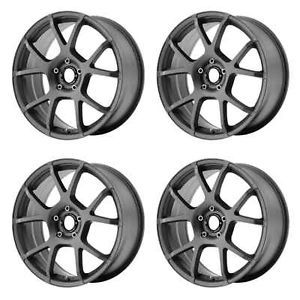Motegi Racing MR121 MR12188051435 Rims Set of 4 18x8 35mm 5x100 Titanium Gray