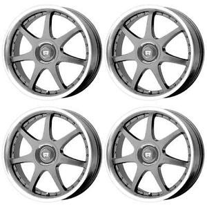 Motegi Racing MR2371 FF7 MR23716716 Rims Set of 4 16x7 42mm 4x100 Gun Metal