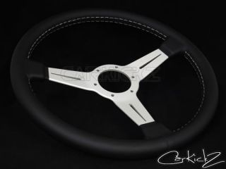 Nardi Steering Wheel 360mm Classic Black Leather Anodized Spoke 6061 36 1001