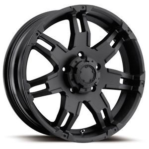 18 inch Ultra Gauntlet Black Wheel Rim 5x5 5x127 Jeep Wrangler Ford Ranger