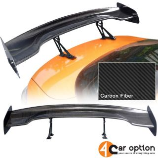 "Fit Nissan 57"" 3 D GT JDM Real Carbon Fiber Deck Trunk Spoiler Wing"