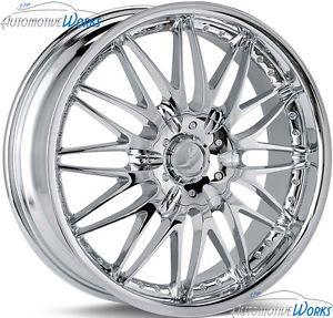 18x7 5 Verde Regency 5x115 5x100 40mm Chrome Wheels Rims inch 18""