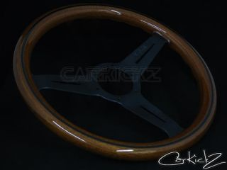Nardi Steering Wheel 330mm Classic Wood Grain Black Spoke JDM 5061 33 2000