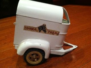 Vintage Tonka Toy Dump Truck and Horse Trailer
