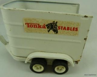 Vintage Tonka Stables Truck Pickup Horse Farm Trailer Ranch Toy Play Set 52620