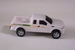 Ford 4x4 Truck F150 John Deere Pickup Ertl White Loose Plastic Toy Vehicle