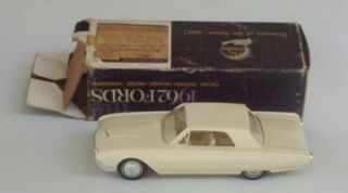 1962 Ford Thunderbird HT Vintage Promo 1 25 w Box Plastic Toy Car VHTF T Bird
