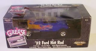1932 Ford Hot Rod Grease Movie VHTF Color Ertl 1 18 American Muscle Le Car