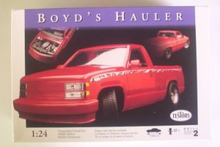 Boyds Hauler Chevy Pickup Truck Custom Hot Rod 1 24 Opened Testors Model Kit