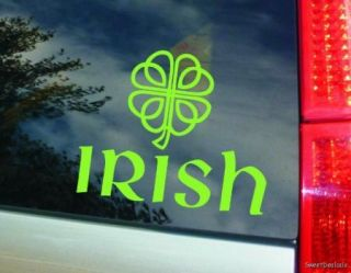 "Irish Celtic Four Leaf Clover Vinyl Sticker Decal for Car Truck 6"" x 5"""