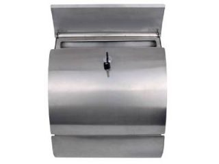 Modern Stainless Steel Mailbox Wall Mount Locking Mail Box Letterbox Postal Post