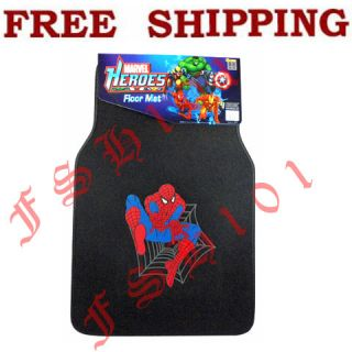 New Marvel Comics Spiderman Super Hero Car Floor Mats