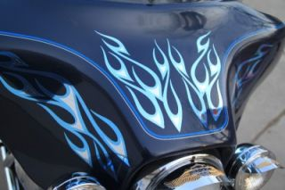 Two Tone Tribal Flame Graphics Fits Harley Street Glide Electra Glide Ultra