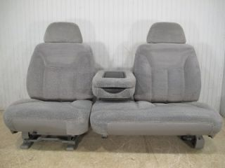 Chevy Silverado GMC Sierra Suburban Tahoe Front Gray 60 40 Truck Seat Console