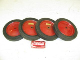 "4 New 10x1 75 1 2"" Ball Bearing Wagon Pedal Tractor Garden Cart Tires Wheels"