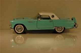 Franklin Mint 1956 Thunderbird Convertible with Removeable HDTP Aqua w White