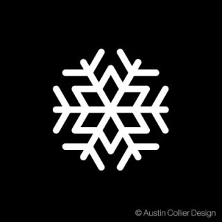 Snowflake Vinyl Decal Car Truck Laptop Sticker Winter