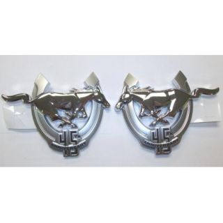2009 Mustang Genuine Ford Parts 45th Anniversary Fender Emblems Pair 2 PC
