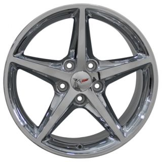 "19"" Rim Fits Corvette C6 Chrome 5488 Wheel 19x10"