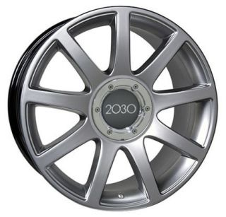 "17"" Hyper Silver RS4 Style Wheels Rims Fit Audi A4 A6 A8 Allroad TT"
