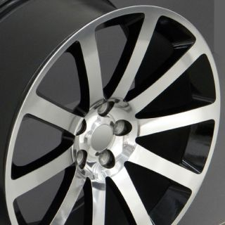 "20"" CL 300 SRT Wheel Black 20x9 Rim Fits Chrysler Dodge Charger Magnum SE SXT RT"