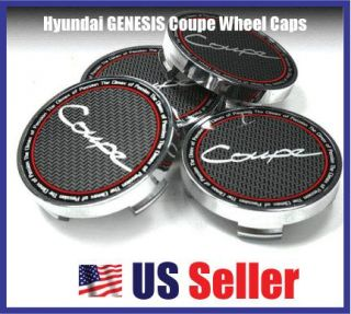 Hyundai Genesis Coupe Wheel Center Cap Set Silver