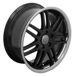 "One Wheel 18"" Black A4 RS6 Deep Lip Rims Fits Audi"
