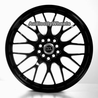 "18"" Black Wheels Rims Tenzo Design Lexus Honda Scion"