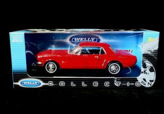 1964 1 2 Ford Mustang Welly 1 18 Diecast Red
