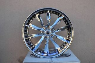 "22"" asanti AF505 Chrome Wheels Rims BMW 7 Series 745 750 Brand New Forgiato"