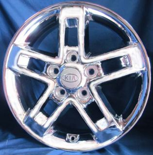 "16"" Kia Soul 2010 OE Chrome Wheels 4 New Rims 5 Spokes Original Price $600"