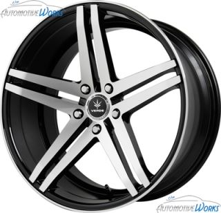 20x9 Verde Parallax 5x120 35mm Black Machined Lip Wheels Rims inch 20""