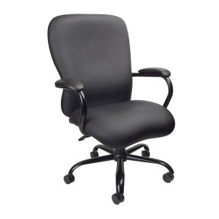Boss Heavy Duty Big Tall Executive Chair 45 12 H x 30 12 W x 27 D Black CaressoftPlus Vinyl