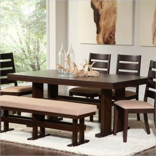 Coaster Travis Contemporary Rectangular Dining Table in Cappuccino   104081