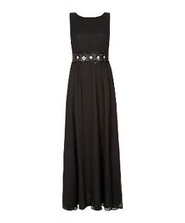 AX Paris Black Cut Out Chiffon Maxi Dress
